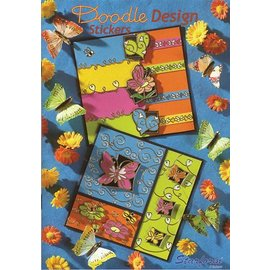 Bücher, Zeitschriften und CD / Magazines A5 cartella di lavoro: disegno di Doodle Adesivi