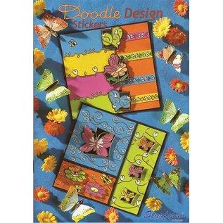 Bücher, Zeitschriften und CD / Magazines A5 Arbeitsbuch: Doodle Design Stickers