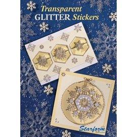 Bücher, Zeitschriften und CD / Magazines A5 projektmappe: Transparent Glitter Stickers