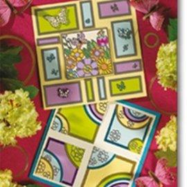 Bücher, Zeitschriften und CD / Magazines A5 projektmappe: Geometrisk Sticker Design