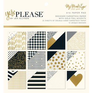 "DCWV und Sugar Plum Ontwerper Block, ""Yes Please"""