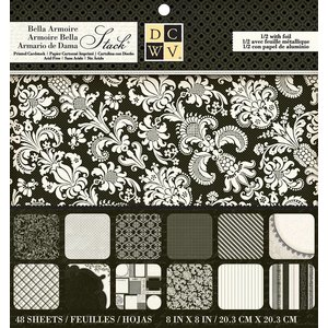 """DCWV und Sugar Plum Designer Block, """"Bella Armoire Paper"""""""