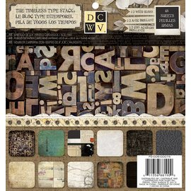 "DCWV und Sugar Plum Designer block, ""The Timeless Type"""