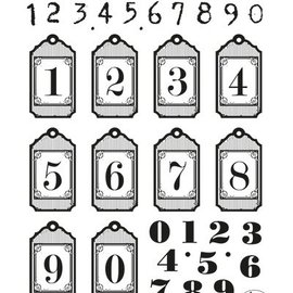 VIVA DEKOR (MY PAPERWORLD) Gennemsigtige stempel: hangtags med tal