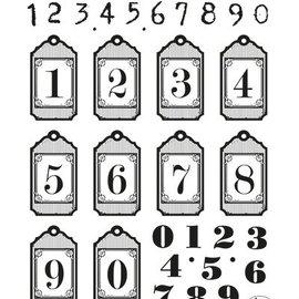 VIVA DEKOR (MY PAPERWORLD) Transparentes de cupones: etiquetas colgantes con los números