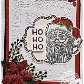 CREATIVE EXPRESSIONS und COUTURE CREATIONS Sello de goma: Tema de Navidad