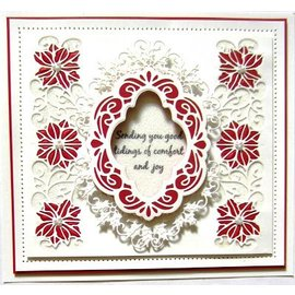 CREATIVE EXPRESSIONS und COUTURE CREATIONS Punching and embossing templates: Christmas decorative frame
