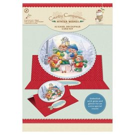 "BASTELSETS / CRAFT KITS A5 schildersezel Decoupage Card Kit, ""Winter Wishes"""