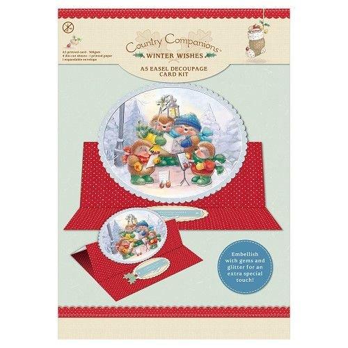 """BASTELSETS / CRAFT KITS A5 schildersezel Decoupage Card Kit, """"Winter Wishes"""""""