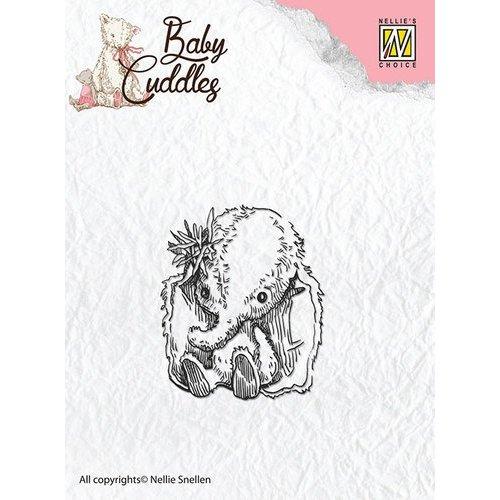 Nellie Snellen Transparent stamps, baby elephant