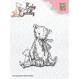 Nellie Snellen Gjennomsiktige stempler baby Cuddles - Teddybjørner