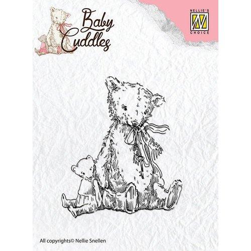 Nellie Snellen Transparent stamps Baby Cuddles - Teddy Bears
