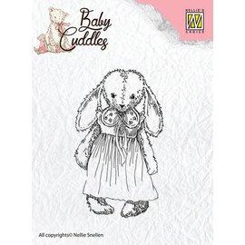 Nellie Snellen Transparent Stempel, Baby Cuddles Baby, Cuddly girl