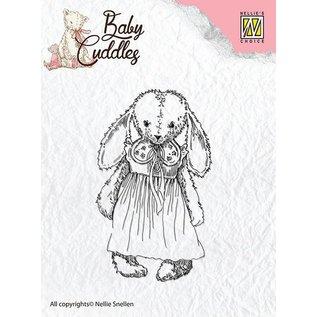 Nellie Snellen Transparante stempels van de baby Knuffels Baby, snoezige meisje