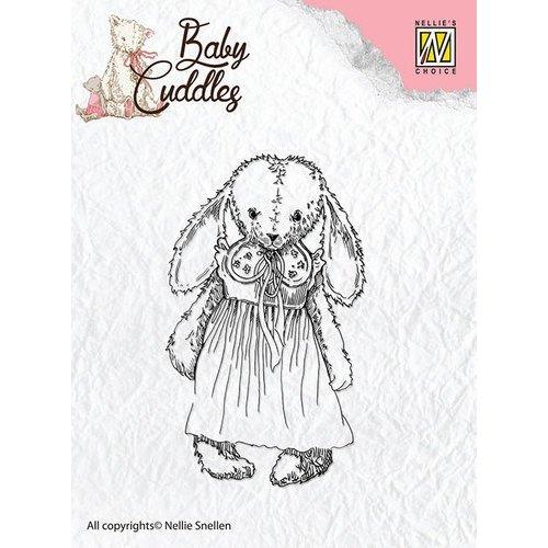 Nellie Snellen Transparent stamps Baby Cuddles Baby, Cuddly girl