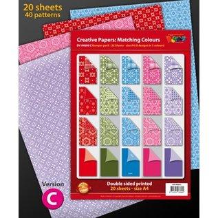 Karten und Scrapbooking Papier, Papier blöcke A4 Designer blok, 20 vel