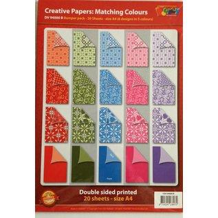 Karten und Scrapbooking Papier, Papier blöcke A4 Designerblock, 20 Bögen