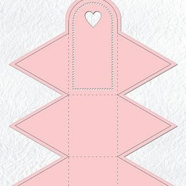 Nellie Snellen Punching and embossing templates: box in the form of a triangle