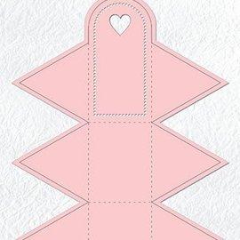 Nellie Snellen Punzonado y estampado en relieve plantillas: rectángulo bajo la forma de un triángulo