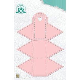 Nellie Snellen Ponsen en embossing sjablonen: doos in de vorm van een driehoek