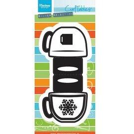 Marianne Design Troquelado y estampado en relieve plantilla: Topper en forma de bolsillo