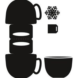 Marianne Design Ponsen en embossing sjabloon: Topper in zak vorm