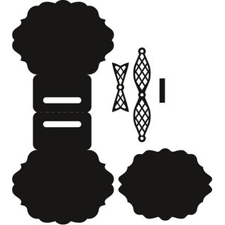 Marianne Design Ponsen en embossing sjabloon: Topper Bow