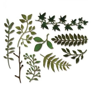 Sizzix Ponsen en embossing sjabloon: veel verschillende planten