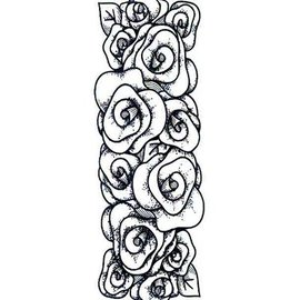 CREATIVE EXPRESSIONS und COUTURE CREATIONS Gummi-Stempel, Rosen Bordüre