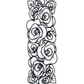 CREATIVE EXPRESSIONS und COUTURE CREATIONS Les timbres en caoutchouc, roses frontière