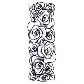 CREATIVE EXPRESSIONS und COUTURE CREATIONS sellos de goma, frontera rosas