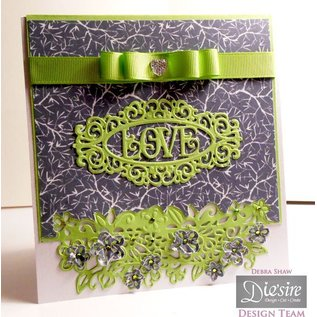 Die'sire cutting and embossing templates: Border with flowers