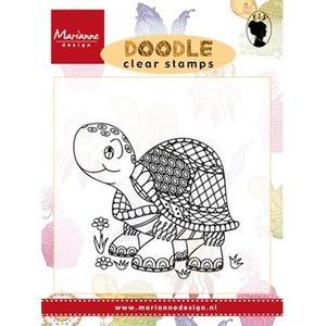 Marianne Design Transparant stempel: Doodle Turtle