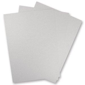 Karten und Scrapbooking Papier, Papier blöcke 5 feuilles en carton métallisé, argent brillant!