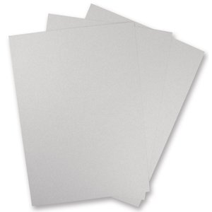 Karten und Scrapbooking Papier, Papier blöcke 5 sheets of metallic cardboard, in brilliant SILVER!