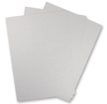 Karten und Scrapbooking Papier, Papier blöcke 5 sheets of metallic cardboard, in brilliant SILVER!