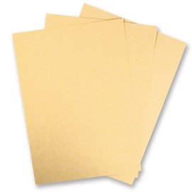 Karten und Scrapbooking Papier, Papier blöcke 5 Bogen Metallic Karton, Elfenbein