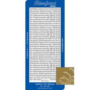 STICKER / AUTOCOLLANT Gecombineerd stickers, Duitse tekst