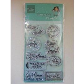 Stempel / Stamp: Transparent sellos transparentes, texto: Deseos de Navidad