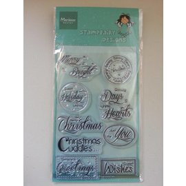 Stempel / Stamp: Transparent tampons transparents, texte: voeux de Noël