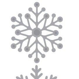 Crealies und CraftEmotions Stan Plantilla: Los cristales de nieve 5 x 10 cm