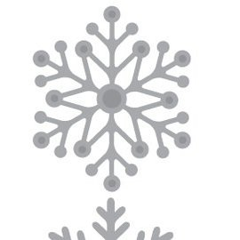 Crealies und CraftEmotions Stanschablone: Schneekristallen 5 x 10 cm