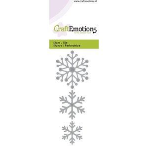 Crealies und CraftEmotions Stan Modèle: cristaux de neige 5 x 10 cm