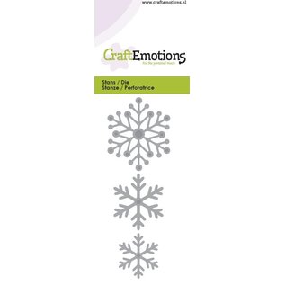 Crealies und CraftEmotions Stan Template: Cristalli di neve 5 x 10 cm