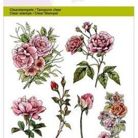 Wild Rose Studio`s tampons transparents A6, roses