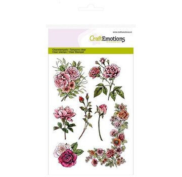 Wild Rose Studio`s A6 Transparent Stempel, Rosen