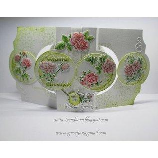 Wild Rose Studio`s A6 Transparant postzegels, rozen