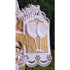 Marianne Design Punzonatura e modello di goffratura: etichette decorative