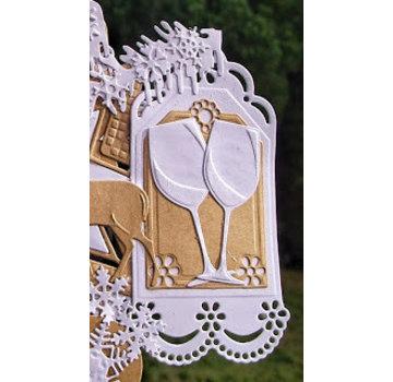 Marianne Design Poinçonnage et modèle de gaufrage: étiquettes décoratives