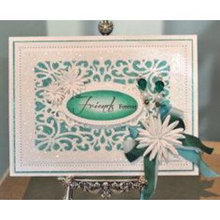 CREATIVE EXPRESSIONS und COUTURE CREATIONS Ponsen sjabloon: decoratief frame achtergrond